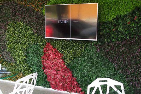 Green depot follaje artificial para muros verdes artificiales for Jardines verticales para balcones